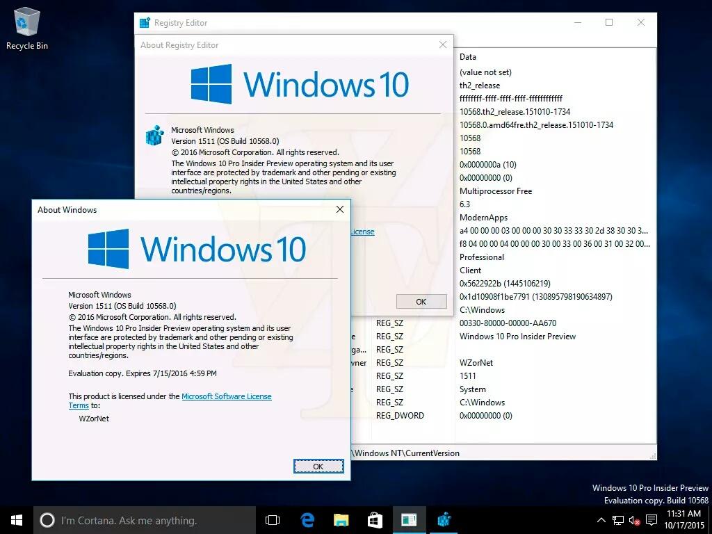 Windows 10 Build 10568 – Erste Screenshots geleakt