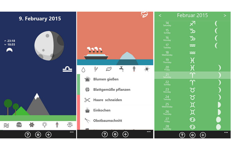 Ursel's moon calendar