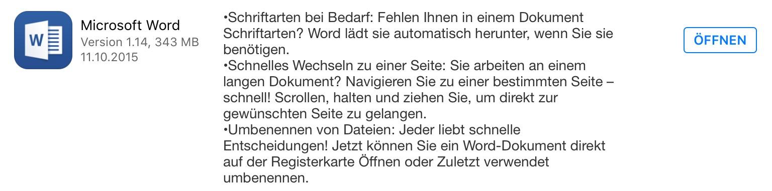 Word iOS