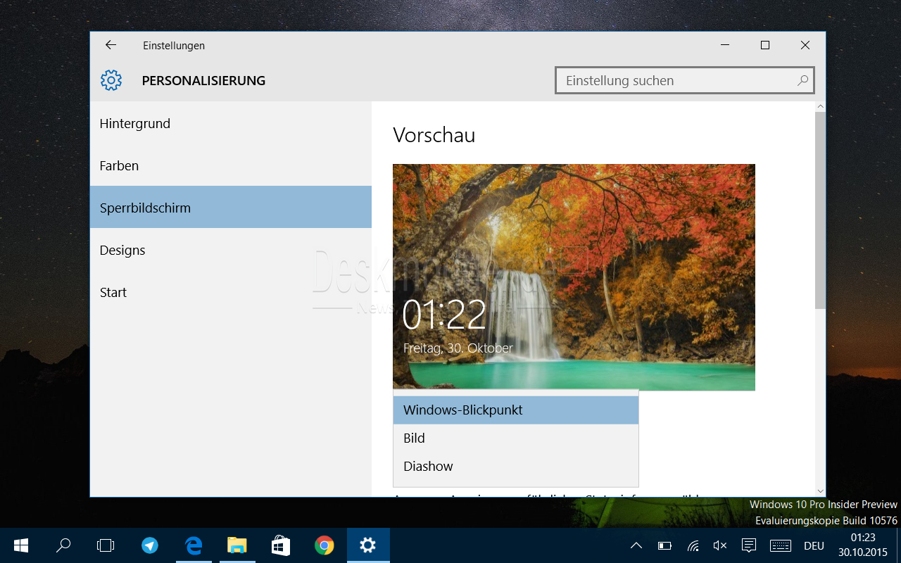 Windows 10 Blickpunkt