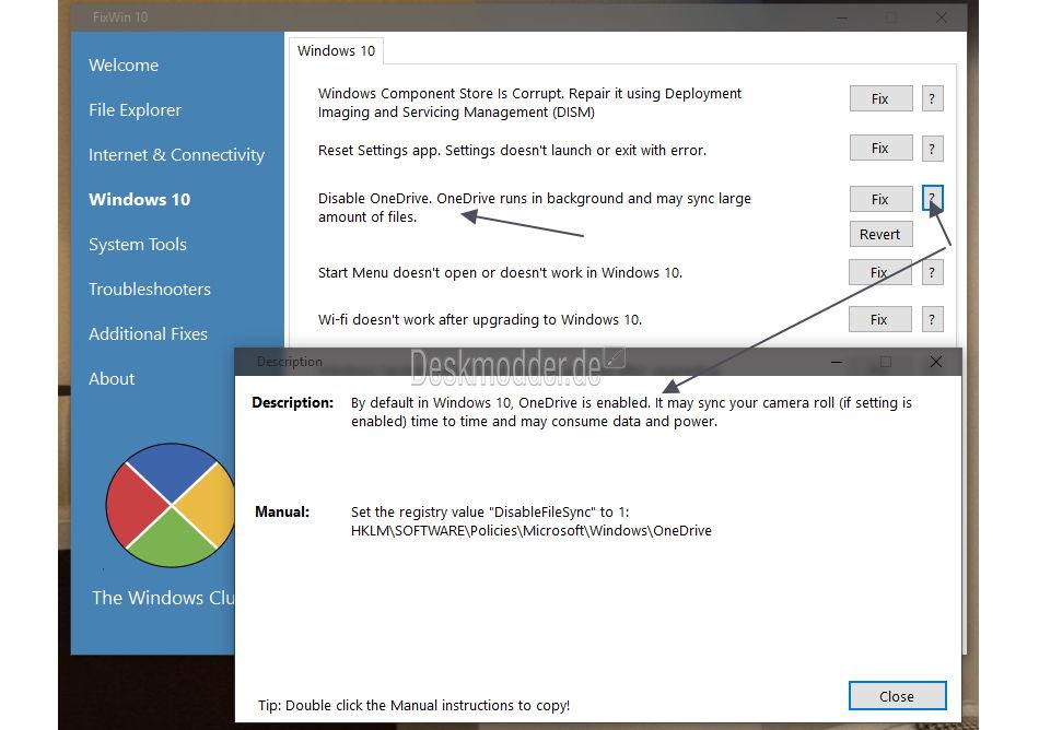 fixwin for windows 10
