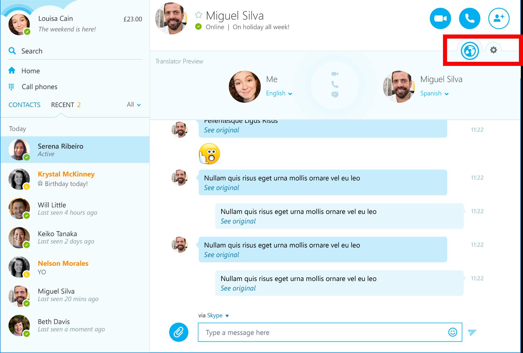 Skype Translator wandert in die Windows-Anwendung