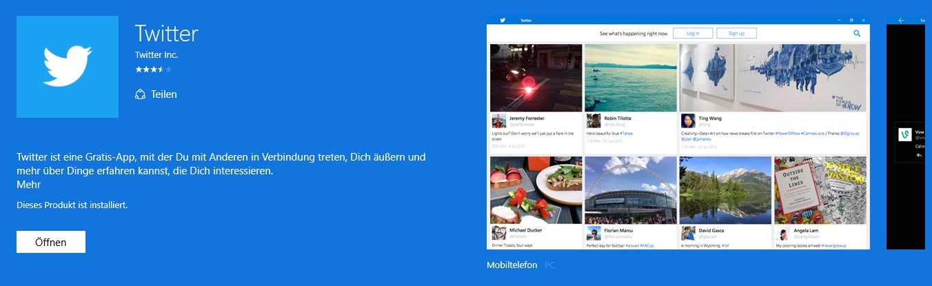 Twitter Windows 10