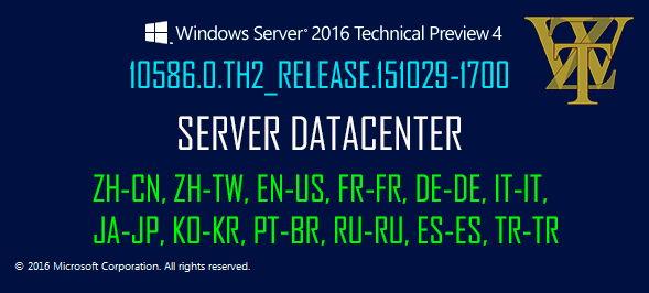 Windows Server 2016 TP 4 ISO