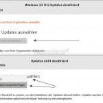 Windows 10 (TH2) Update-Einstellungen deaktivieren, um manuell upzudaten