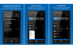 Action Note: Universal App, die Notizen im Info-Center anzeigt