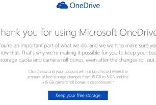 OneDrive: 15 GB Speicherplatz + Camera Roll bis 31.1.2016 unbedingt bestätigen