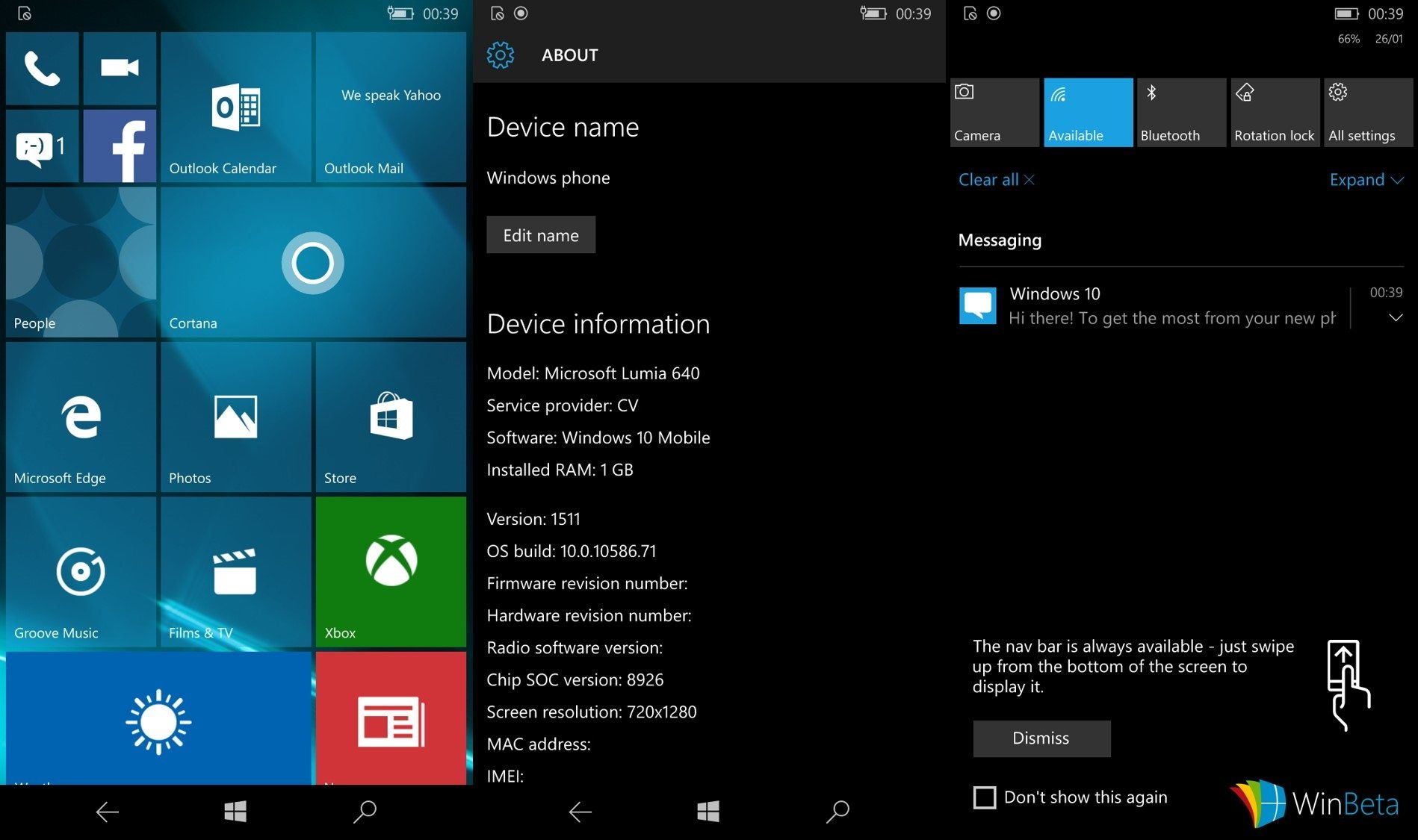 Windows 10 Mobile build 10586.71