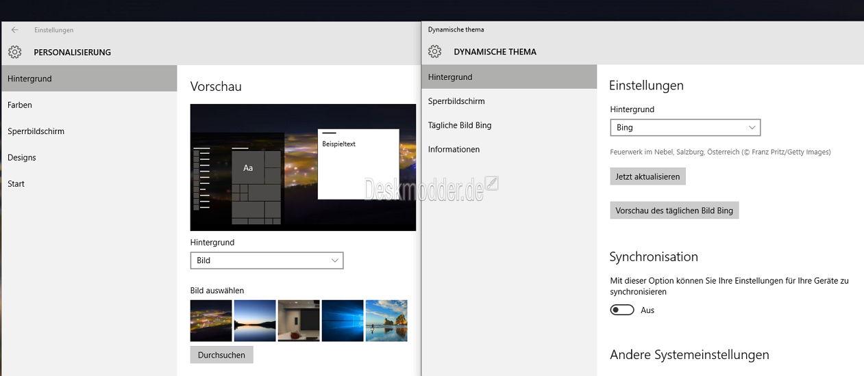 Desktop hintergrund automatisch wechseln windows 10