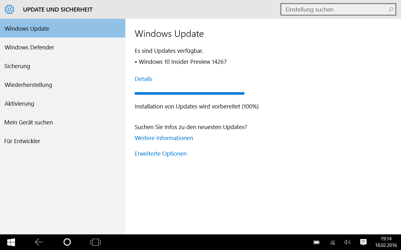 Windows 10 Build 14267