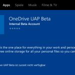 Windows 10: OneDrive als Universal-App für beide Plattformen in Arbeit