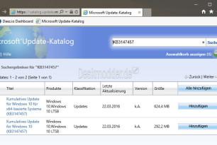 KB3147457: Kumulatives Update für Windows 10 10240 und Windows 10 LTSB (manueller Download)