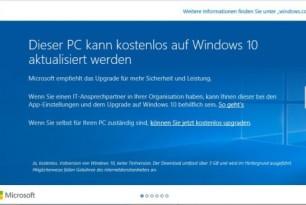 Windows 10: Upgrade-Meldung nun auch auf Firmen-PCs