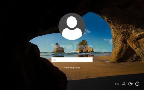 Lockscreen im Windows-10-Mobile-Style