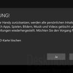 Windows 10 Mobile sauber neu installieren