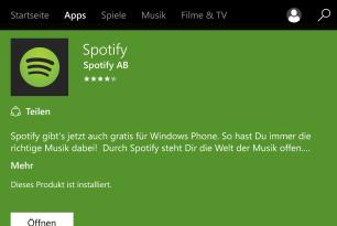 Spotify beendet Unterstützung für Windows Phone
