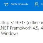 KB3146717 und KB3146715 Hotfix Rollup für .NET Framework 4.5, 4.5.1, 4.5.2 sowie 4.6 und 4.61