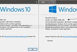 KB3157621: Windows 10 Kumulatives Update für den Desktop verfügbar
