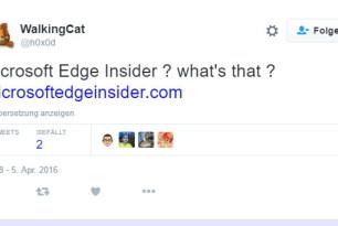 Microsoft Edge  für Insider? Die Domain wurde von Microsoft schon eingerichtet