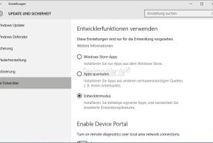 Linux Bash unter Windows 10 aktivieren