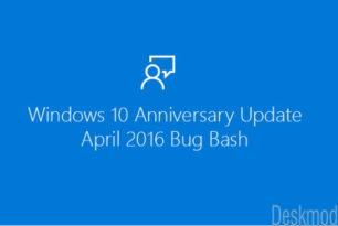 Windows 10 (1607) Bug Bash im Feedback Hub