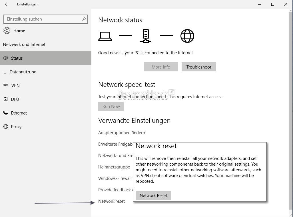 kein netzwerkadapter windows 10