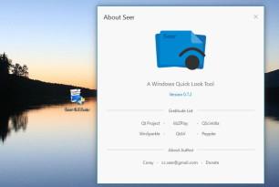 Seer – Sehr einfaches und gutes  Vorschau-Tool für Bilder, Texte, Videos und Musik