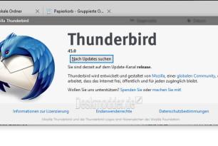 Thunderbird 45.6.0 veröffentlicht