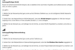 """Windows 10: Neue App """"WLAN und Mobilfunkguthaben"""" zeigt sich"""
