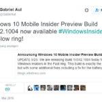 Windows 10 Mobile Build 14342.1004 nun auch im Slow Ring