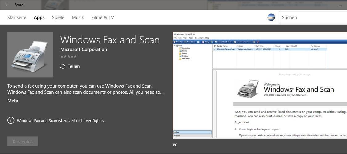 Windows Fax Und Scan