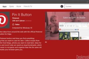 Pin It Button: Microsoft Edge Erweiterung nun auch im Store