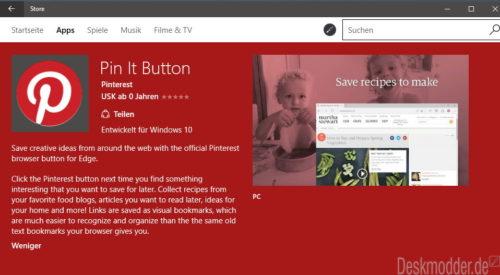 Pin It Button Microsoft Store