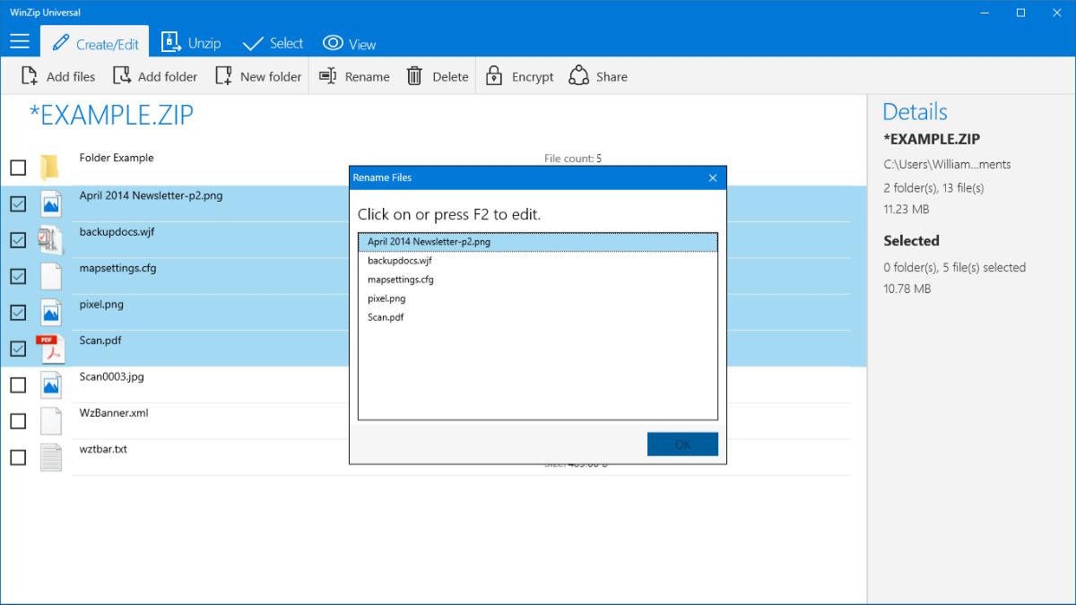 WinZip als UWP-App für Windows 10 und Windows 10 Mobile erschienen