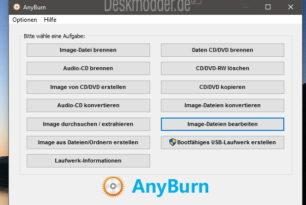 AnyBurn 3.3 steht zum Download bereit