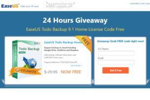 Giveaway – EaseUS Todo Backup 9.1 Home – 24 Stunden kostenlos herunterladen