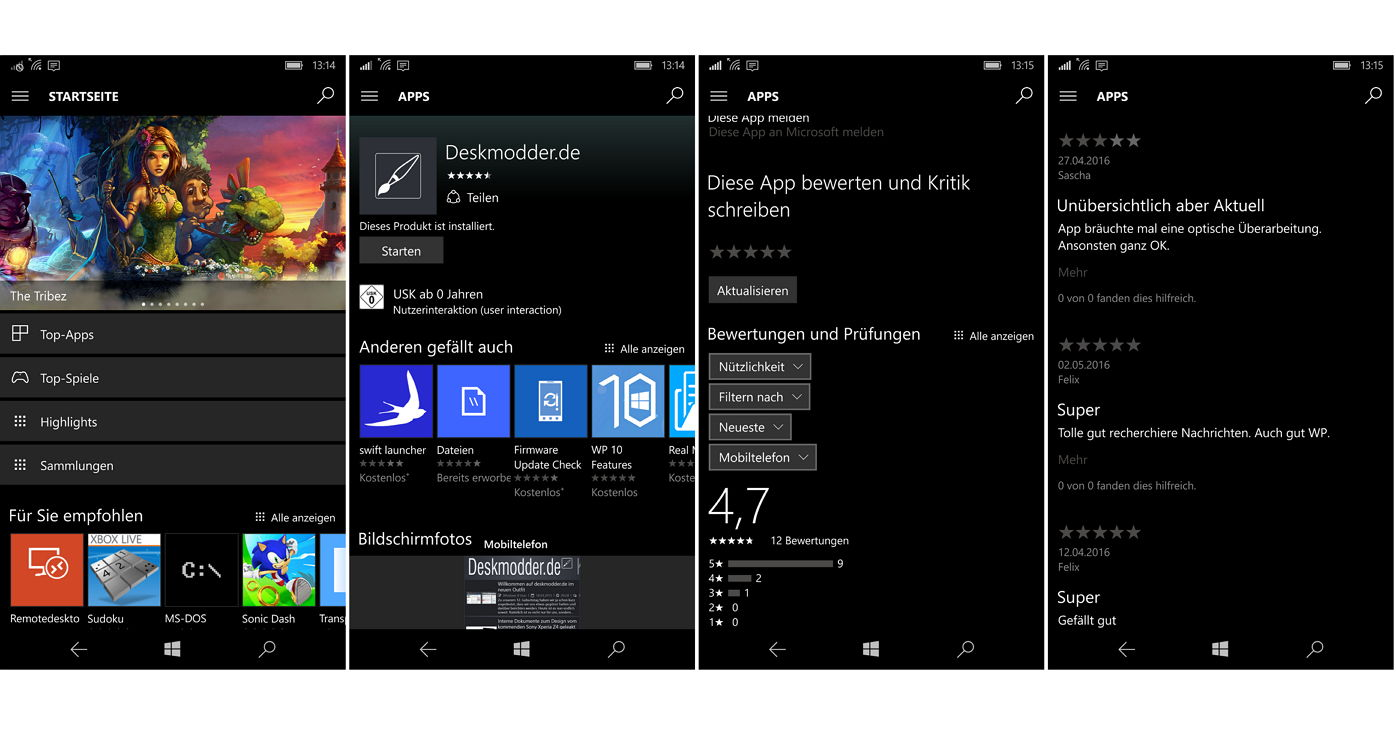 windows 10 mobile 14342 die neue store ansicht wurde freigegeben. Black Bedroom Furniture Sets. Home Design Ideas
