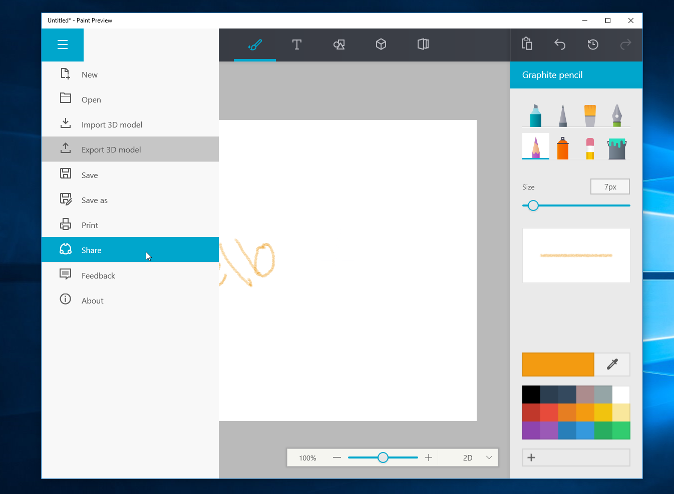 Windows 10 anniversary update neues paint als app for App to paint on pictures