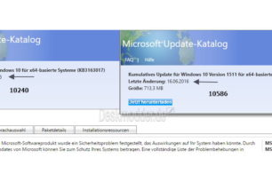 Microsoft lädt die KB3163018 erneut in den Update Katalog für Windows 10 1511