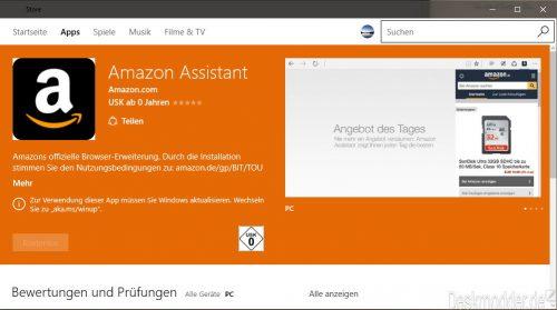 Amazon Assistant Edge App