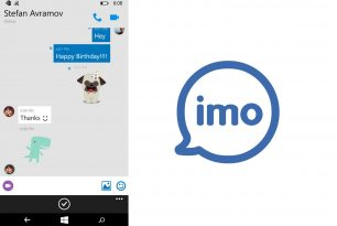 """imo free video calls and text""-Chat-App für Windows 10 Mobile und WP 8.1"
