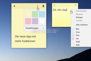 Windows 10 1809: Alte Kurznotizen (Sticky Notes) installieren und nutzen