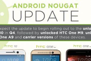 HTC macht Angaben zum Upgrade nach Android 7.0 Nougat