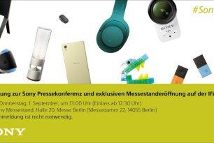 [IFA 2016] Sony verteilt Einladungen zur Pressekonferenz am 1.September