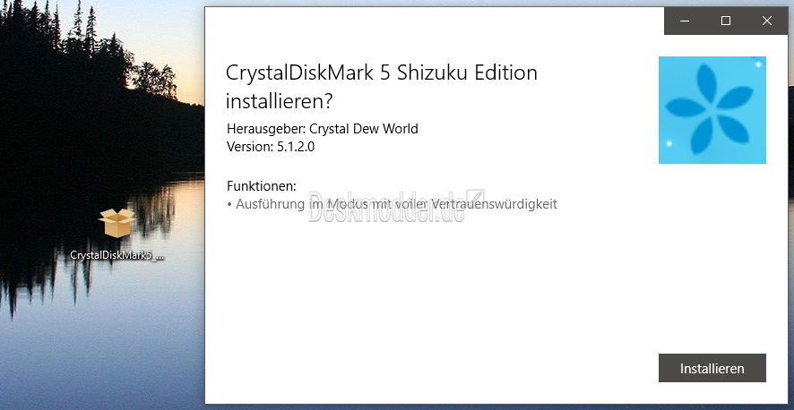 crystal disk windows 10