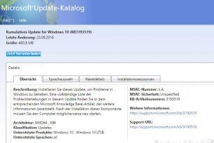 KB3193517, KB3193519 und KB3176936 Updates für Windows 10 (Download) KB3192665 Windows 7 und 8.1