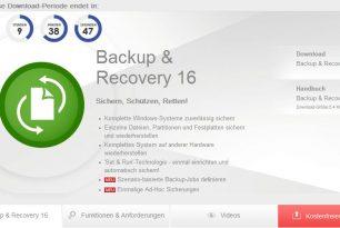 Paragon Backup & Recovery 16 kostenlos für eine limitierte Zeit