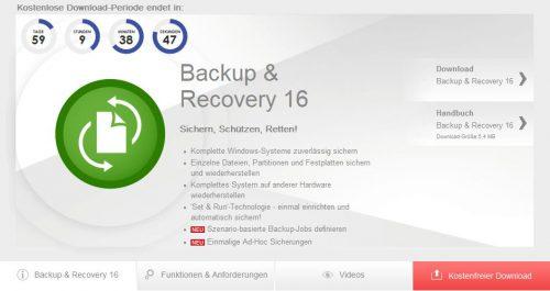 Paragon Backup und Recovery 16 kostenlos