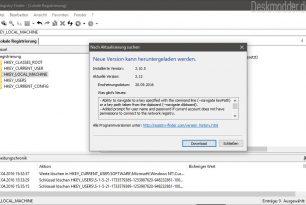Registry Finder mit einem Update auf die 2.12