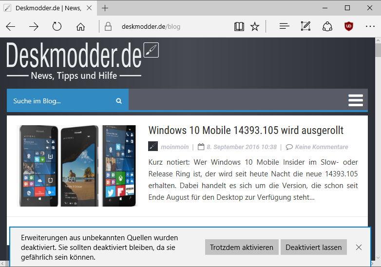 Microsoft Edge: Neue uBlock Adblocker Version steht zum ...